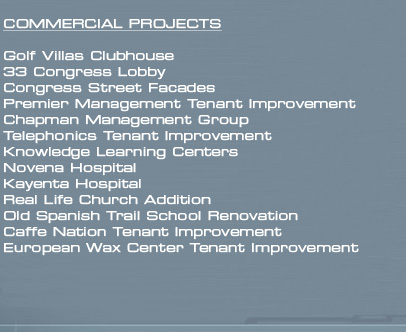 Commercial Project List